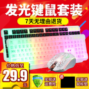 Fox cable backlight keyboard and mouse game office desktop notebook computer USB light button
