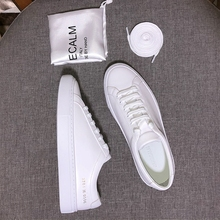 common lovers wild casual white shoes shoes spring 2018 new Korean leather white shoes flat floor shoes