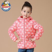 Snoopy 2016 new childrens lightweight warm down jacket girls cartoon prints for fall winter down jacket coat