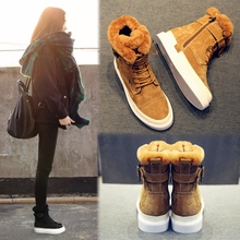 Ugg boots female winter cotton shoes short barrel all-match Korean students 2017 new ulzzang Martin boots warm tide