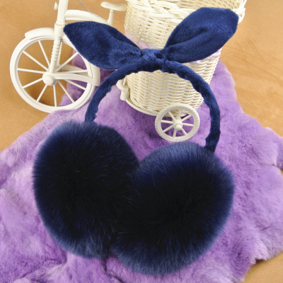 Earmuffs warm earmuffs female cute bunny ears bowknot imitation rabbit hair oversized ears warm winter ear ear cover to keep warm