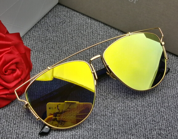 2015 new CD TECHNOLOGIC steel wire reflective lens sunglasses, sun glasses and the trend of men and women