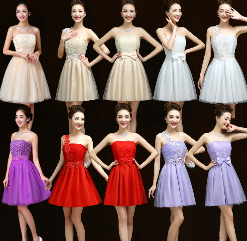 The new 2015 bridesmaid dresses a toast to the bride take sister group small formal attire annual party dress female welcome performance