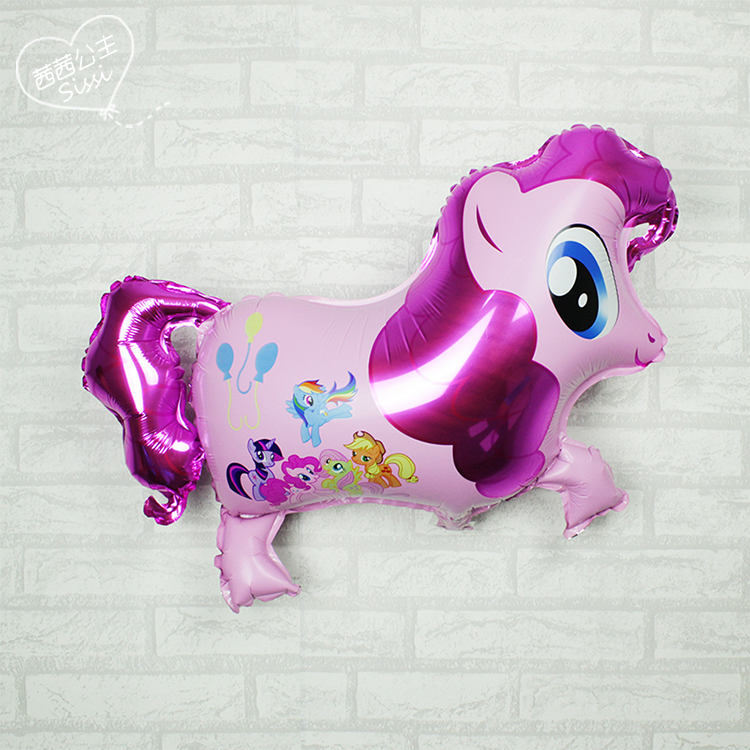 Singles Polly balloon foal horse aluminum film presents children's creative baby balloon birthday party decorations