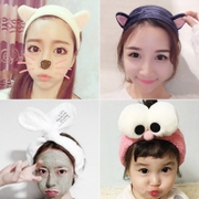 Sweet lovely cat rabbit ears with Korean hair wash hair card scarf Japan wide female head ornaments