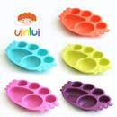 韩国进口 母婴品牌uinlui 健康环保 蔗糖 儿童餐具 6格餐盘饭盒
