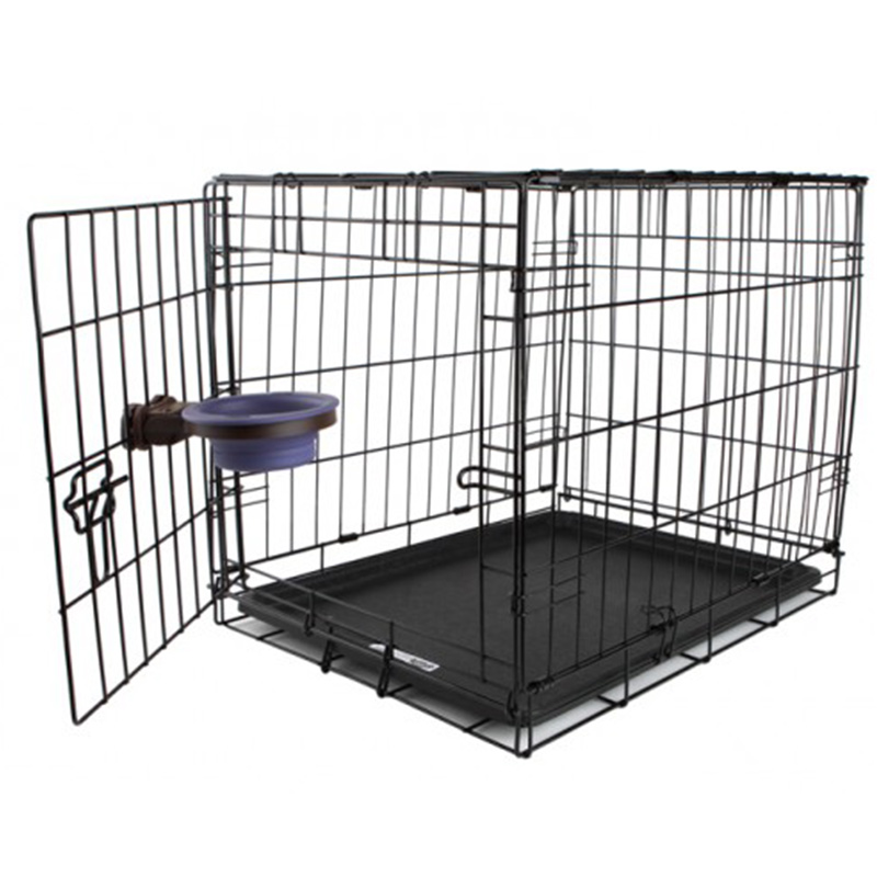 Pet fence The dog dog iron fence dog cage bars Teddy small dogs toilet supplies folding cage lock S