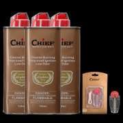 Authentic leader CHIEF kerosene lighter, general oil, high quality fragrance, no peculiar smell, fuel 133ml, economical and practical