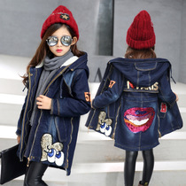 Pupils with 7 kids girls winter girls 8 winter 6-12 13 9 10 thick cotton clothes coat boys