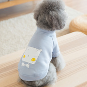 Cute cartoon dog pet clothes Tactic Bichon puppy coat sweater T-shirt two small dogs puppies autumn