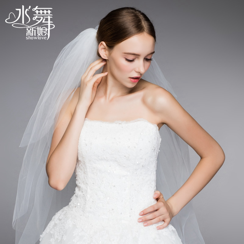In 2017 4 new European Waterdance bride soft wedding veil wedding yarn short parts to R0033