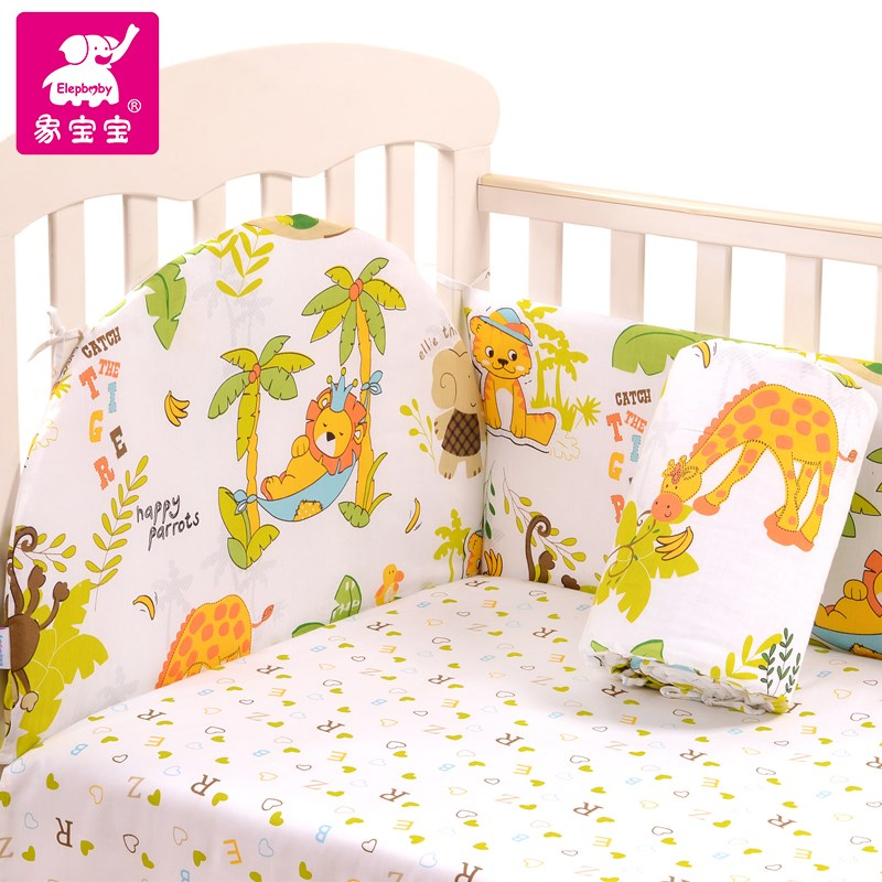 As the baby baby bedding set cotton 367 piece suit summer washable baby bed around the crash