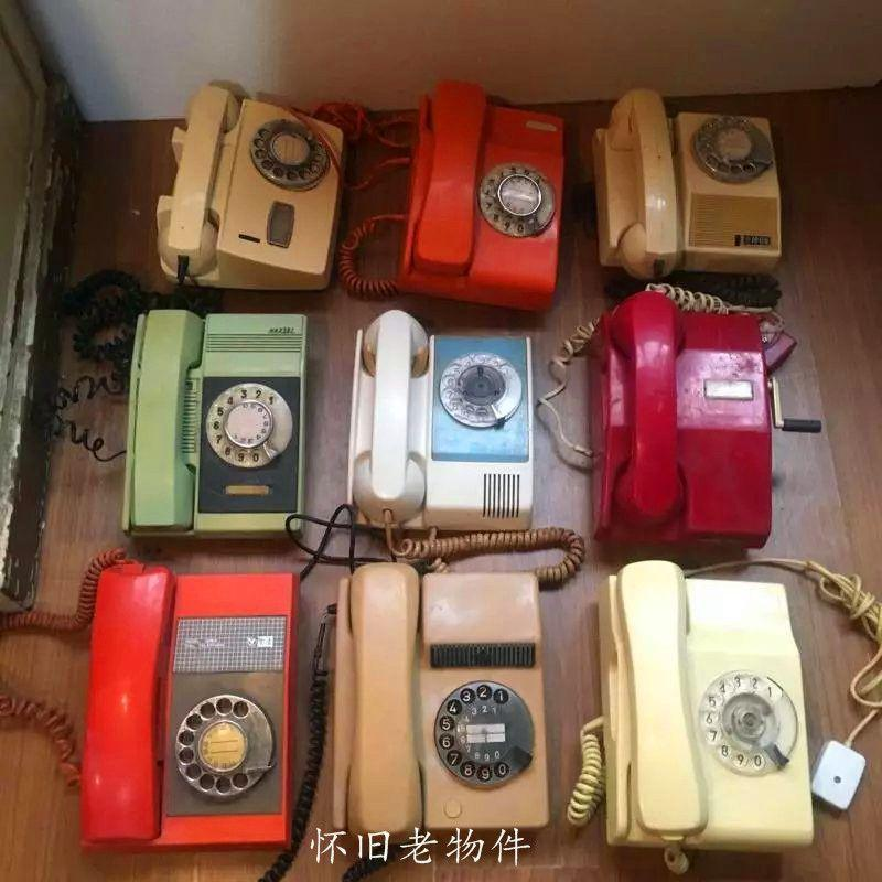 Hot Shanghai production dial, old telephone number, color fresh machine, nostalgic collection, coffee studio props