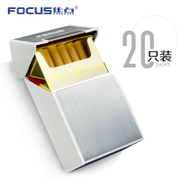 The focus of personalized cigarette box creative ultra-thin clamshell cigarette man 20 pack portable anti pressure plastic metal cigarette case