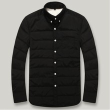 Warm autumn autumn and winter leisure shirt shirt down casual jacket shirt light warm thickening