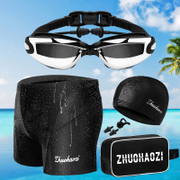 Zhuo Haozi men's swimming trunks swimming goggles five Suit Size Swimsuit boxer spa equipment