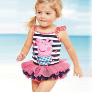 Girls swimsuit 2017 New South Korean children's One-Piece Swimsuit Bikini Bikini Girls baby swim tide
