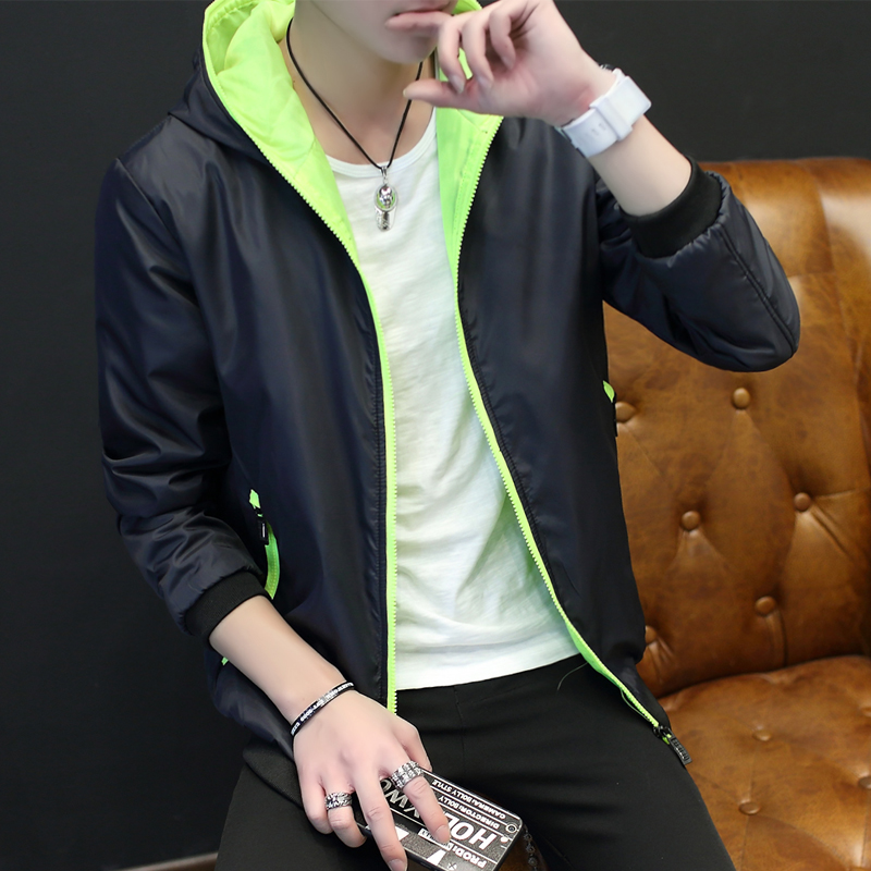 Spring man coat thin jacket slim Korean youth new boys baseball uniform spring tide gown