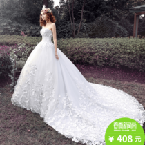 2017 new luxury Palace wedding dress the bride Princess married Korean women long tail dream sweet
