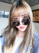 Korean RETRO SUNGLASSES female personality tide 2017 new round and big star sunglasses all-match avant-garde glasses frame