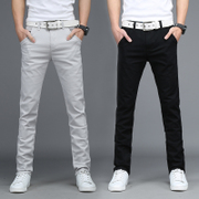 3 pieces fall casual pants men slim pants trousers thin Korean male summer autumn tide male men's trousers