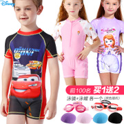 Children's Swimsuit Boys and girls Disney middle school children's one-piece swimsuit surfing suit students sun bathing suit swimsuit