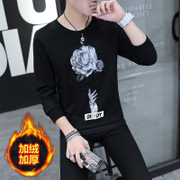 With the new autumn and winter 2016 cashmere thickened clothes men sweater sweater Mens Long Sleeve T-shirt shirt trend