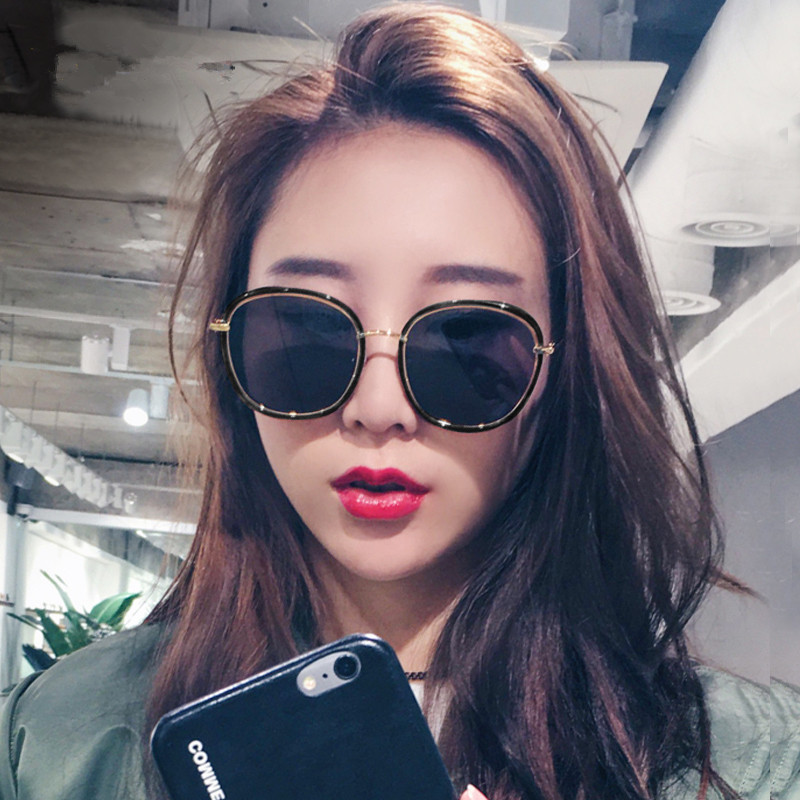 2017 new female star Sunglasses with a red tide net round elegant Korean sunglasses all-match polarized glasses