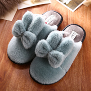 Cotton slippers Ms. winter indoor floor slippery thick bottom in winter Home Furnishing cute couple month hair slippers male