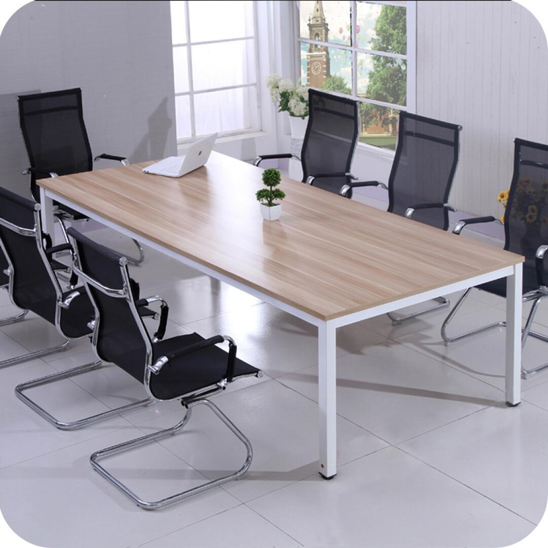 【木野】办公家具 板式环保会议桌 简约钢架洽谈桌 会客桌培训桌