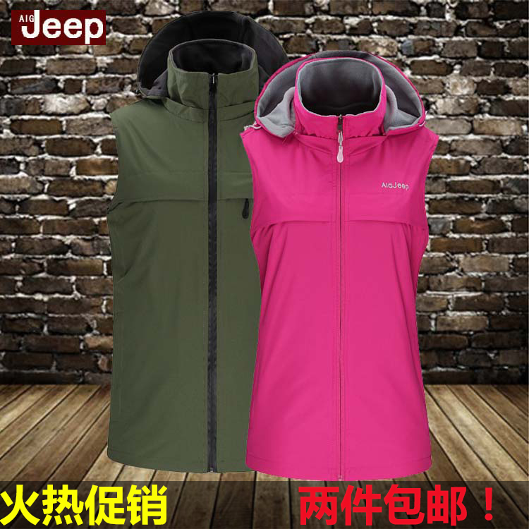Outdoor fleece vest vest vest men Size Womens Casual Sport Climbing fleece vest in spring autumn and winter