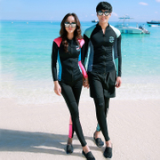 Da cousin diving suit men and women split long sleeved zipper outdoor surf snorkeling sun bathing jellyfish swimsuit couple