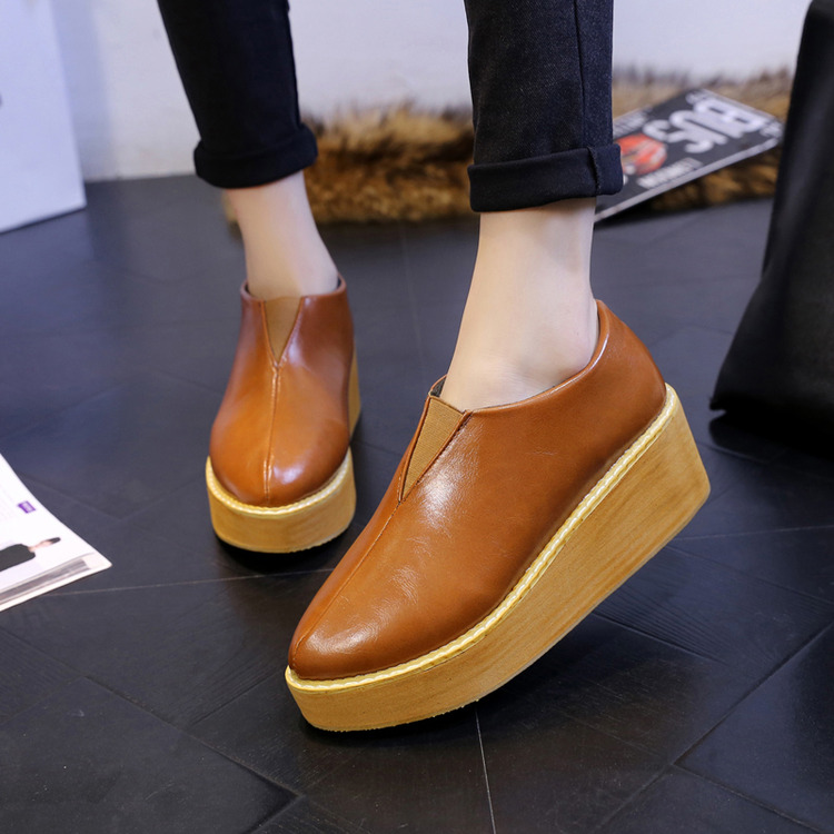 2015 Korean winter star with a lazy shoes with thick soles muffin bottom slope fashion shoes