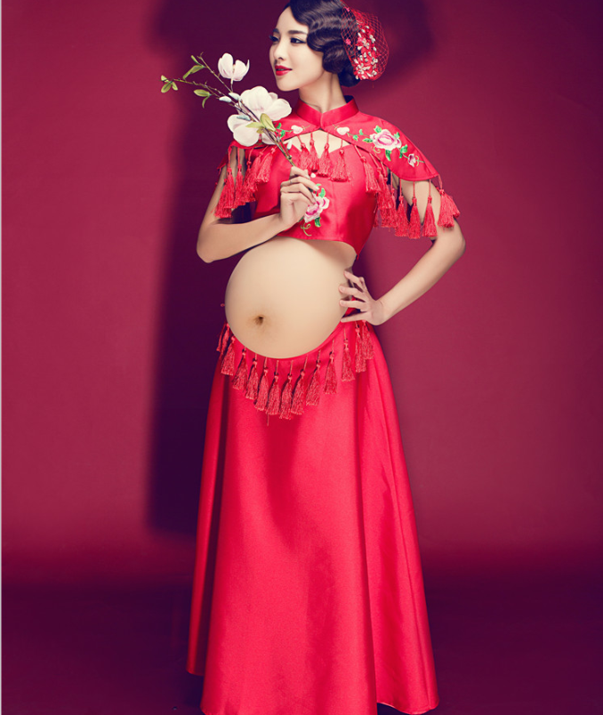 Photo studio pregnant women take pictures photography 2017 han edition pregnant women clothing fashion dress is pregnant women clothing