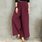 The new spring cotton casual baggy pants loose pants size female zen yoga dance clothing