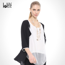 Lovete Europe leisure fashion personality romantic elegant Chiffon cardigan line commuter sports pants feet occupation