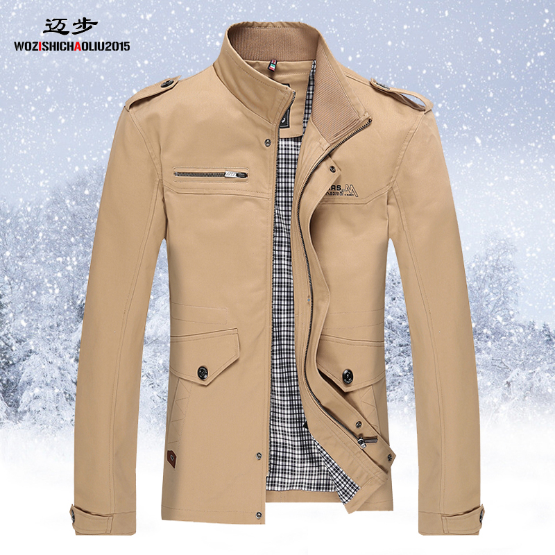 Fall men's jacket coat thin business casual size men's youth jackets men spring Middle coat