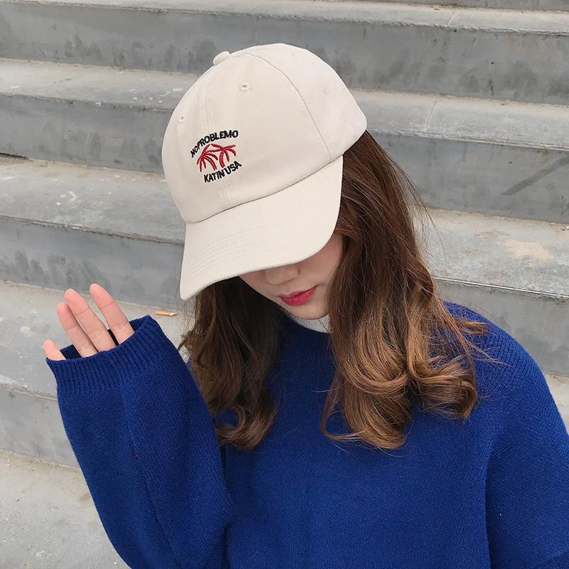 四季帽子韩国全棉卡通刺绣棒球帽青年户外运动太阳帽潮男女鸭舌帽