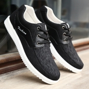 In the spring of 2017 working men's casual shoes black shoes anti-skid breathable cloth shoes old Beijing student 0aidas