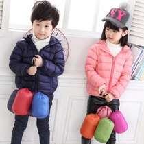 Specials new baby lightweight thin short Hooded down jacket down jacket for girls boys children childrens jackets