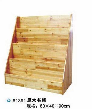 幼儿园用品 儿童玩具 木制书柜 原木玩具柜图片
