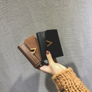2017 new small wallet female short paragraph Korean tide folding personality students cute mini ins super hot purse