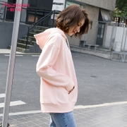 Female student BF loose sweater Korean tide sleeve Hooded Coat ulzzang 2017 new spring tide Harajuku