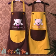 Cute couple kitchen waterproof apron Korean fashion custom printing customized advertising logo adult overclothes shipping
