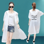 In the long section of the new summer sun protection clothing 2017 female all-match beach wear breathable ultra-thin loose coat Korean BF wind