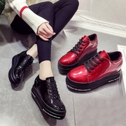 Platform shoes thick bottom 2017 female new spring increased lace up shoes shoes all-match shoes female students