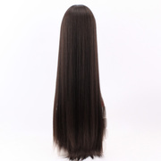L14 British Qi hair wig wig really women handed needle hand woven long straight hair wig long hair braided high-end extension