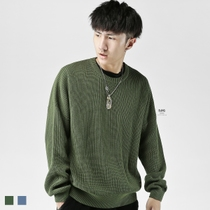 (Specials)BJHG Europe and the United States street thick off the shoulder crew neck pullover style sweater knit sweater