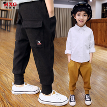 Meters West fruit 2018 children's spring clothing boy trousers spring and autumn new models Korean version of tide clothing casual pants big children's clothing trousers