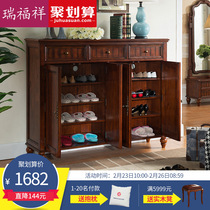 Rui Fu Xiang American Country Shoes Cabinet European Style Porch Cabinet  Minimalist Foyer Partition Cabinet